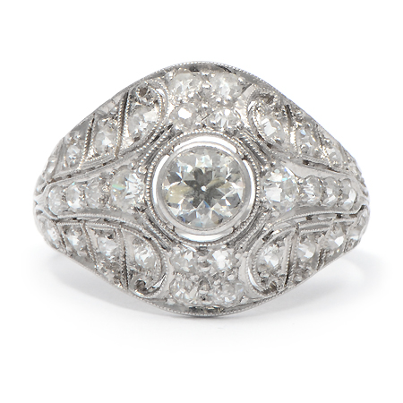Vintage Diamond Engagement Ring from Edwardian Period