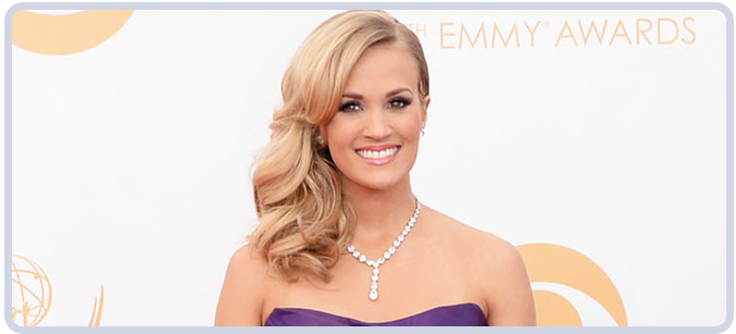 Carrie Underwood's diamonds at 65th Emmy Awards in 2013
