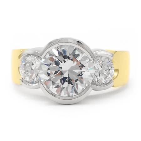 Three Stone Gold Engagement Ring