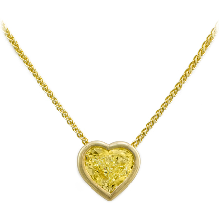 Custom Heart Shaped Diamond Pendant