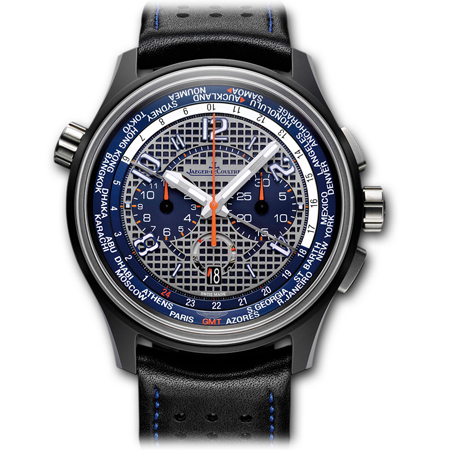 Jaeger LeCoultre AMVOX5 Men's Watch with World Time and Chronograph