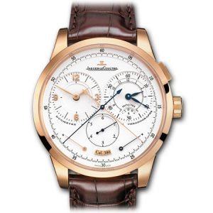 Duométre á Quantiéme Lunaire Men's Watch by Jaeger LeCoultre in Yellow Gold