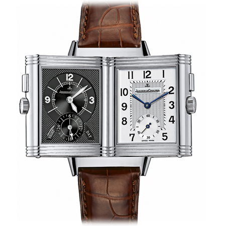 Jaeger LeCoultre Reverso Duo Men's Watch Dual Dials