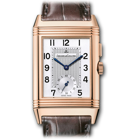 Jaeger LeCoultre Reverso Duo Men's Watch Pink GOld
