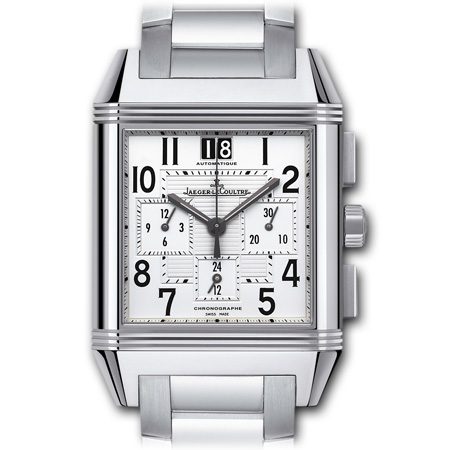 Reverso Squadra Chronograph GMT men's watch by Jaeger LeCoultre Steel