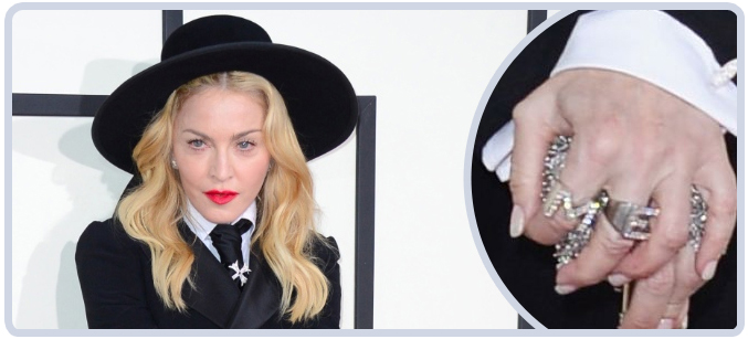 Madonna's Jewelry at 2014 Grammy Awards