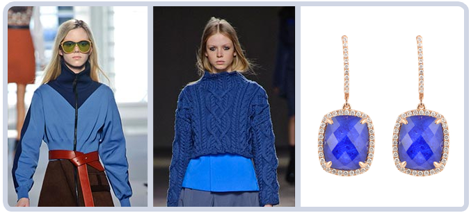 Blue Fashion Jewelry on the Runway Pantone