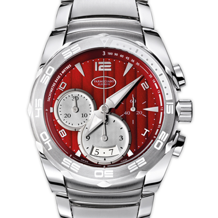 Parmigiani Fleurier Pershing 002 (PFC528) Men's Watch with Red Dial