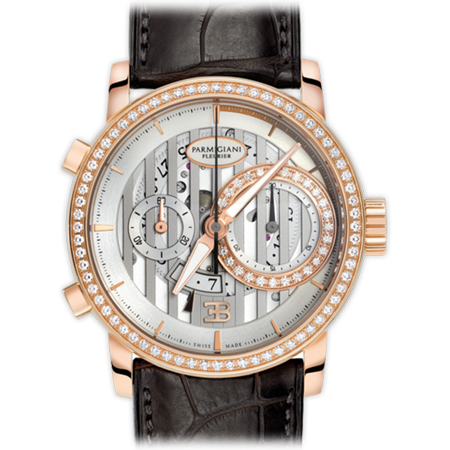 Parmigiani Fleurier Bugatti PFC335 Atalante Men's Watch in Rose Gold with Diamonds