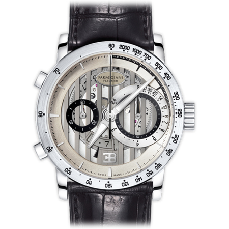 Parmigiani Fleurier Bugatti PFC335 Atalante Men's Watch in White Gold