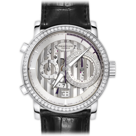 Parmigiani Fleurier Bugatti PFC335 Atalante Men's Watch in White Gold with Diamonds