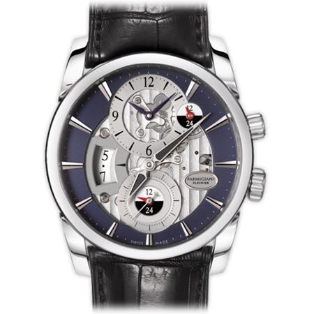 Parmigiani Fleurier Tonda Hemispheres Men's Watch PFC231 Blue Steel Dial
