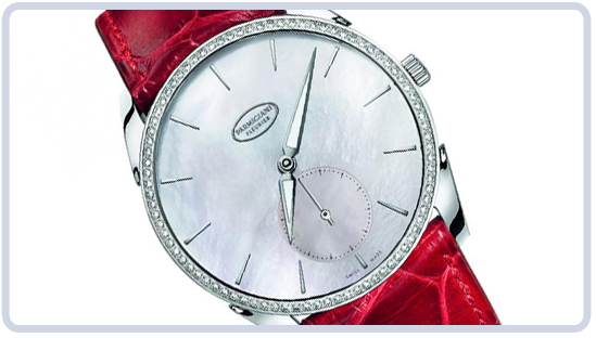 Tonda 1950 Ladies Watch with Red Strap by Parmigiani Fleurier