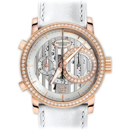 Parmigiani Fleurier - Ladies Bugatti Atalante Watch with Rose Gold and Diamonds