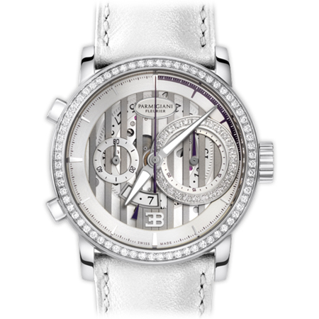 Parmigiani Fleurier - Ladies Bugatti Atalante Watch with White Gold and Diamonds