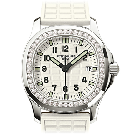 Patek Philippe Ladies Aquanaut with White Strap