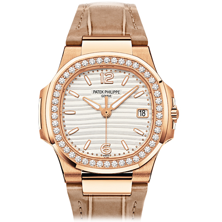 Rose Gold Patek Philippe Ladies Nautilus Reference 7010R