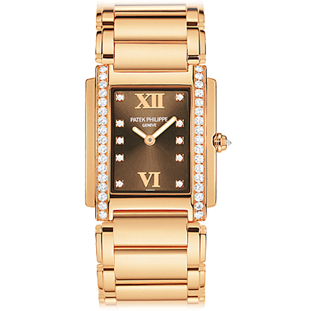 Patek Twenty4 Ladies Watch in Yellow Gold and Brown Dial