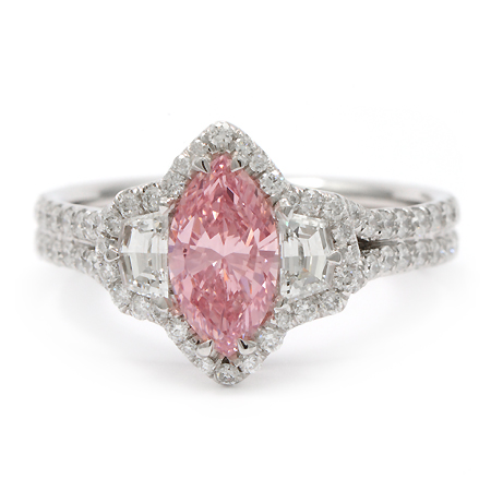 Argyle Fancy Pink Diamond Ring