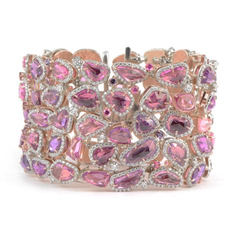 Fancy Pink Sapphire Bracelet