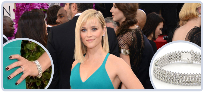 Reese Witherspoon's Jewelry at the 71st Golden Globes Awards