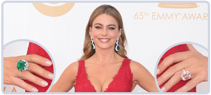 Sophia Vergara in $7 million dollars of jewelry at Emmys in 2013