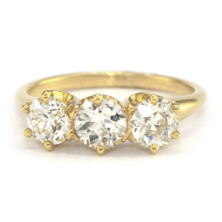 Vintage Yellow Gold Diamond Engagement Ring