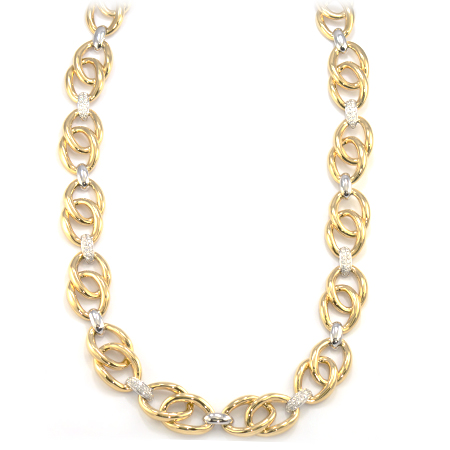 Yellow Gold & Diamond Chain Necklace