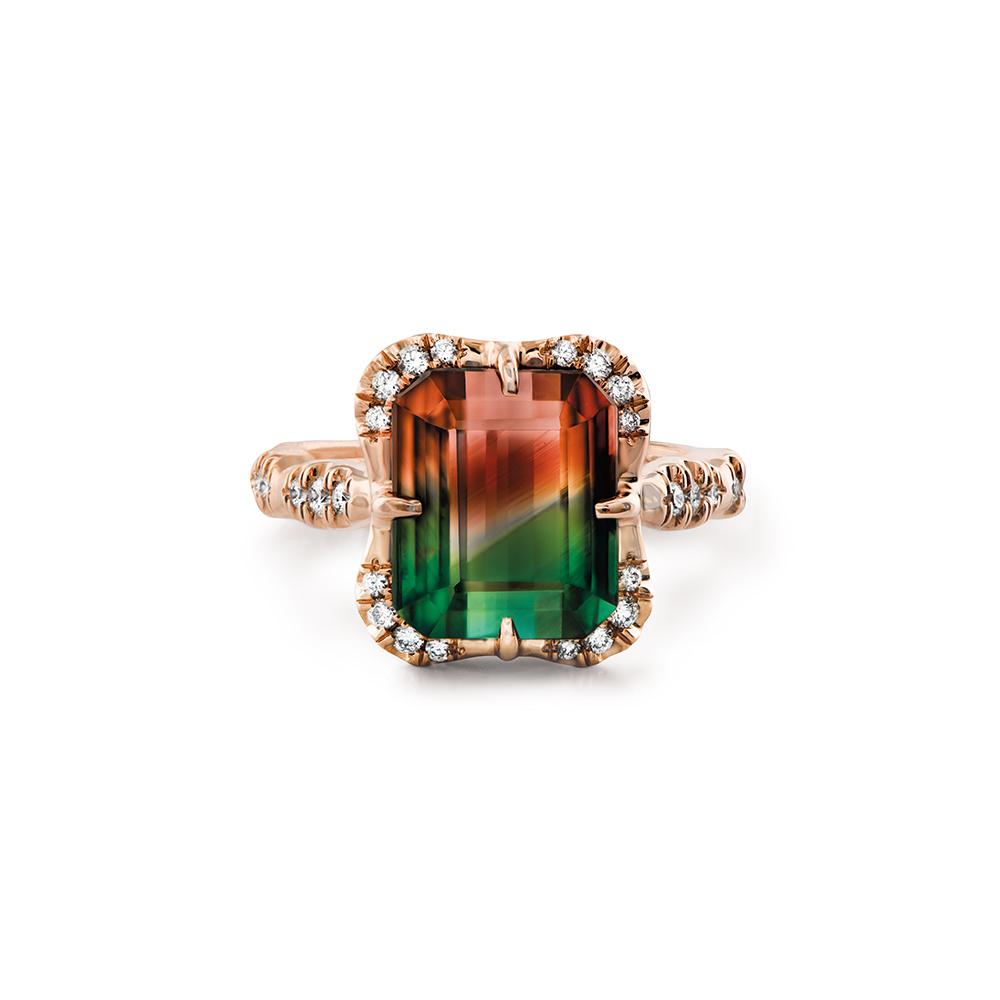 Bi Color Tourmaline Ring Wixon Jewelers