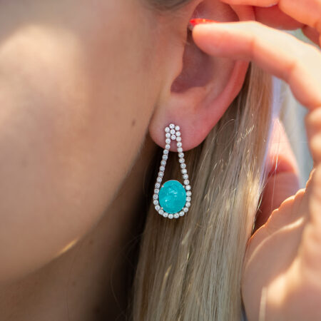Custom Paraiba Tourmaline Earrings