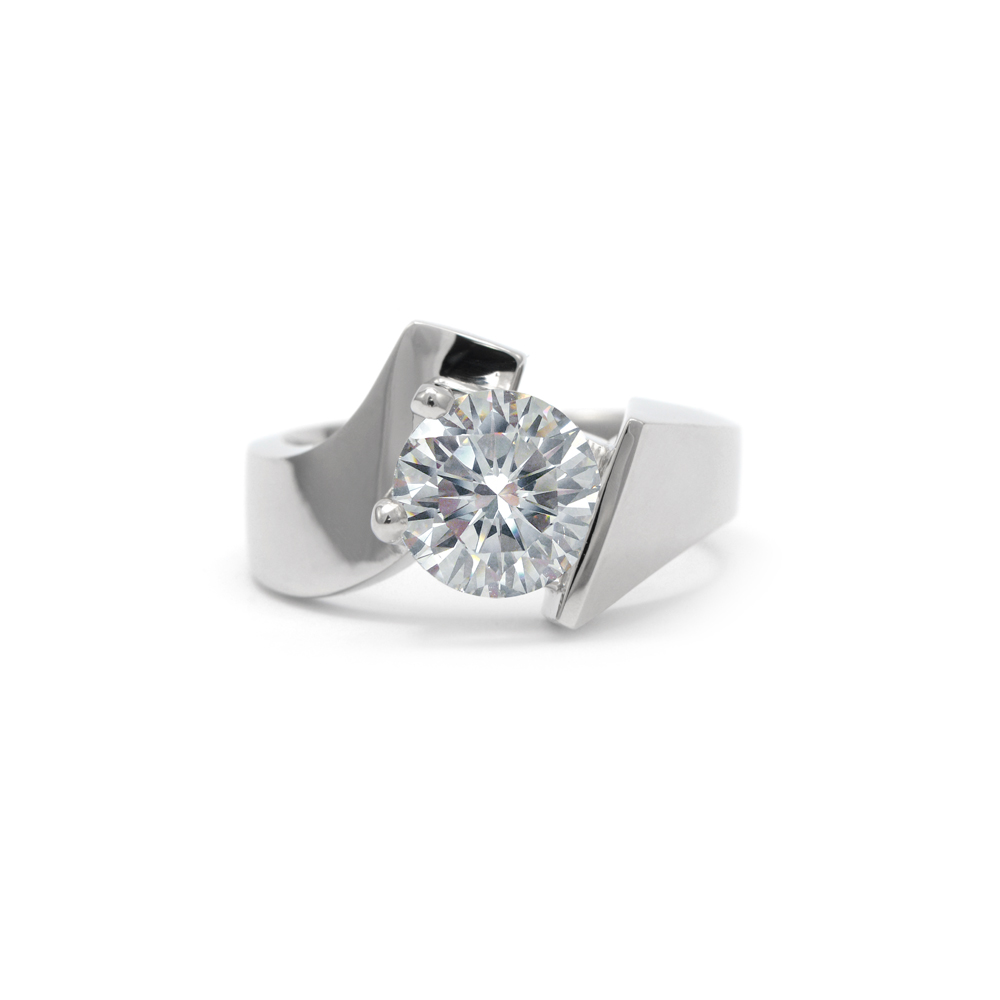 Contemporary Engagement Ring Wixon Jewelers
