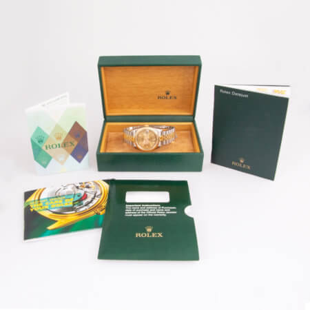 Rolex Datejust 36mm pre-owned watch box and papers