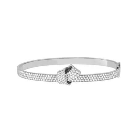 Pave Diamond Bangle Knot Bracelet