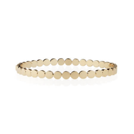 Fashionable Gold Circle Bangle Bracelet