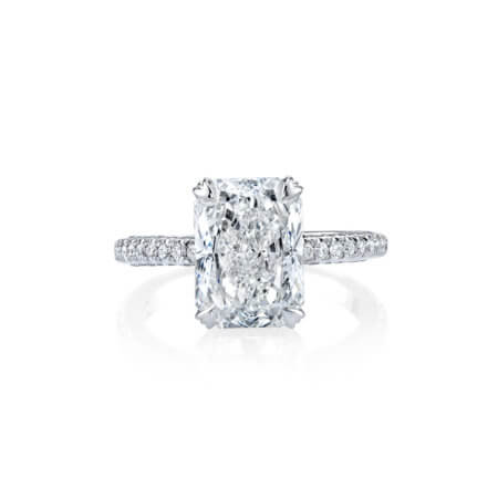 Radiant Cut Pave Diamond Ring