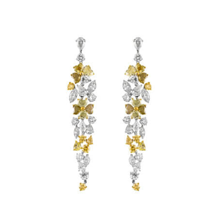 Fancy Color Diamond Dangle Earrings