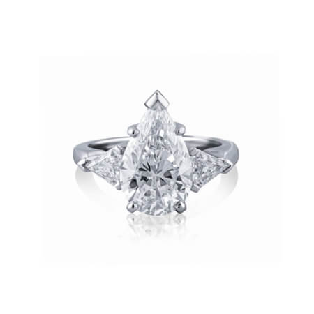Pear-Shaped Three-Stone Diamond Ring