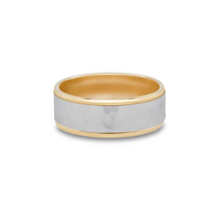 Two-Tone Men's Wedding Ring
