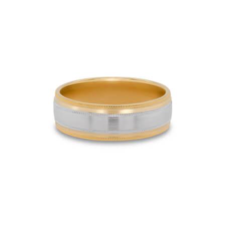 Two-Tone Men's Wedding Ring
