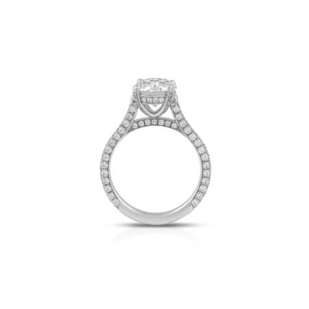 Round Brilliant Pave Diamond Ring