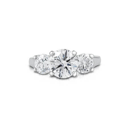 Three-Stone Round Diamond Ring