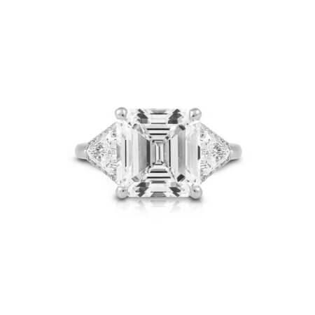 Square Emerald-Cut Diamond Ring