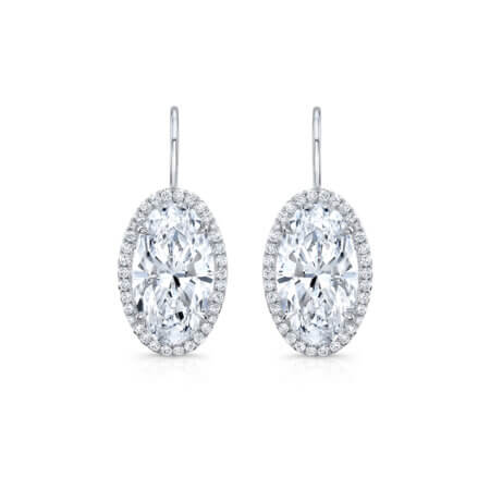 Oval-Diamond-Halo-Earrings