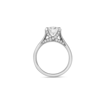 Wide Band Solitaire Diamond Ring