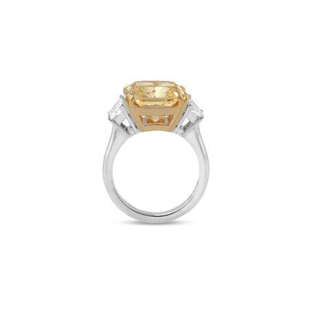Radiant Fancy Yellow Diamond Ring