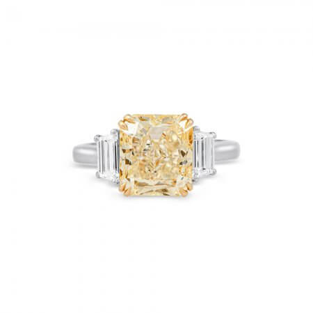 Yellow Diamond Three-Stone Ring