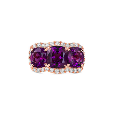 Three-Stone Grape Garnet Ring