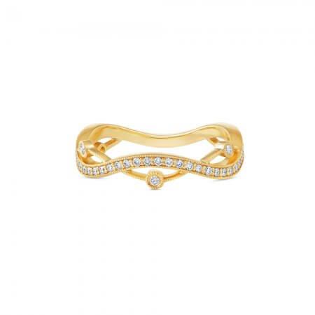 Yellow Gold Twist Diamond band