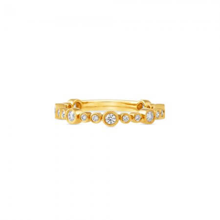 Yellow Gold Twist Diamond band