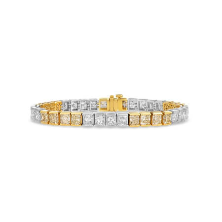 Yellow & White Diamond Bracelet